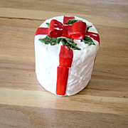 Lefton Christmas Candy Jar With Lid