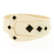 Art Deco Celluloid Buckle Bracelet