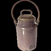 Vintage Amethyst Enamelware Milk Jug