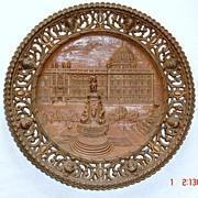 Berlin Commemorative Metalware Plate-Stadtschloss,19th Century