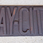 Incredible Cast Iron BAY CITY Steam Shovel Architectural Piece