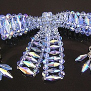 SALE Vendome Aurora Borealis Bow Brooch & Dangle Earrings