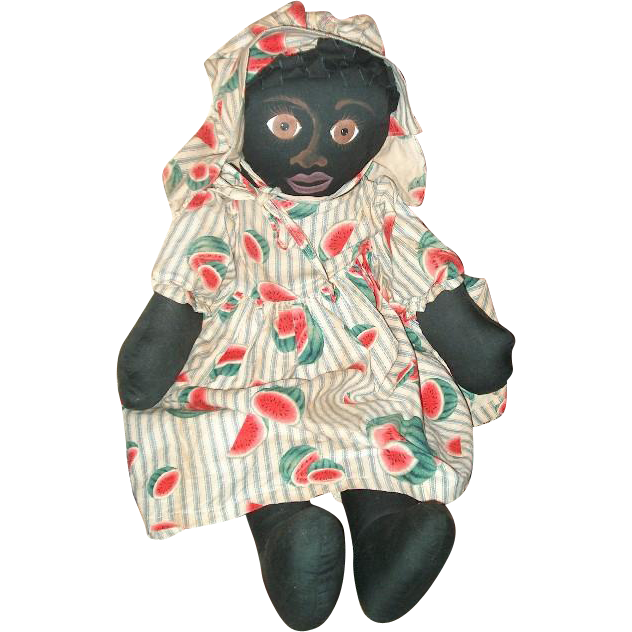 Darling hand painted primitive Back cloth doll