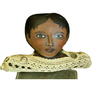 Oil painted cloth Black doll`Shelf sitter bu Sue Sizemore