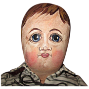 Folk art hand painted OOAK boy doll