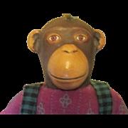 Vintage adorable girl Monkey