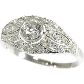 SALE Art Deco Diamond and Platinum Ring ca.1920