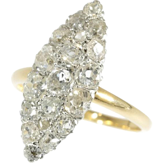 SALE Victorian Diamond Marquise Ring ca.1890