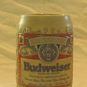 Budweiser Label Stein  From 1989 by Ceramarte