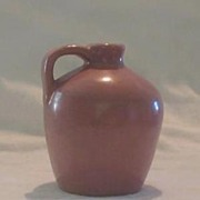 Miniature Pottery Mauve Handled Jug
