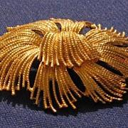 Monet Gold Tone Round Pin