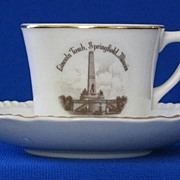 Lincoln's Tomb Cup And Saucer Set