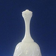"""Fenton """"Spanish Lace"""" Silver Crest Bell"""