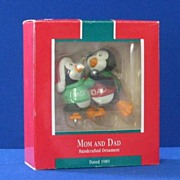 Hallmark 1989 Mom & Dad Christmas Ornament