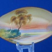 """Noritake """"Tree In The Meadow"""" Oval Dish"""