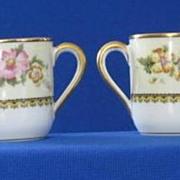 Pair Of Noritake Wildfleur Pattern Demitasse Cups