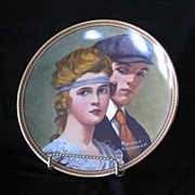 "Knowles China Norman Rockwell Plate ""Meeting On The Path"""