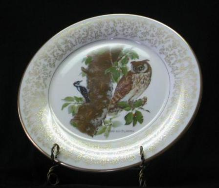 """Gorham Fine China """"Long-Eared Owl"""" Collector Plate"""