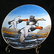 """W. S. George Collector Plate Titled """"Redheads"""""""