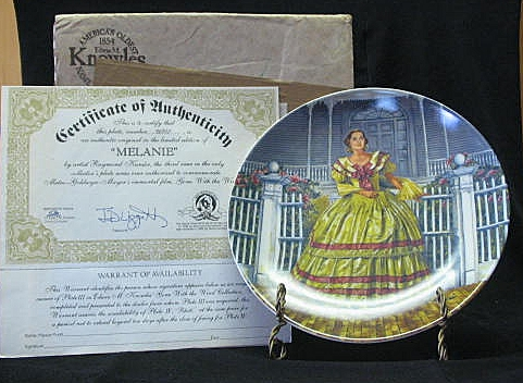"""Knowles Collector Plate Titled, """"Melanie"""""""