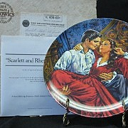 """Knowles Collector Plate Titled """"Scarlett And Rhett - The Finale"""""""
