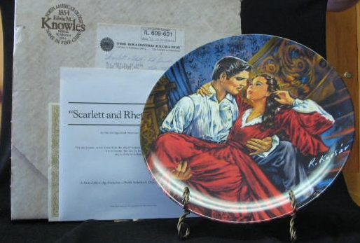 "Knowles Collector Plate Titled ""Scarlett And Rhett - The Finale"""