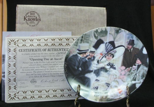 """Knowles Collector Plate Titled """"Opening Day At Ascot"""""""