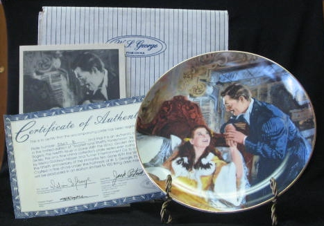 "W S George Plate ""Scarlett And Rhett's Honeymoon"""