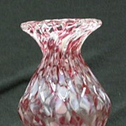 End-Of-Day Quilted Art Glass Vase