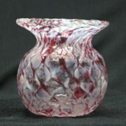Art Glass End-Of-Day Vase With Quilted Exterior
