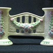 Roseville Pottery Unmarked Larose Pattern Gate Vase