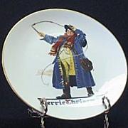 "Gorham 1982 Christmas Plate ""Jolly Coachman"""