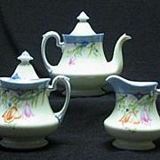 Noritake Teapot, Creamer, And Sugar Set