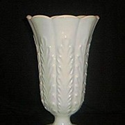 Heavy Milkglass Vase by Brody Co.