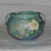 Roseville Pottery White Rose Jardiniere 653-3