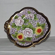 Noritake Pierced Handled Hand Painted Bowl