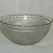 Sandwich Pattern Glass Bowl