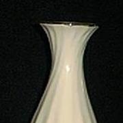 White Swirl Ceramic Vase