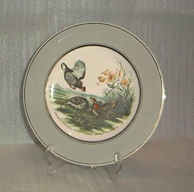 Prairie Chicken Porcelain Plate Design By J. J. Audubon