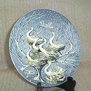 "Haviland Limoges ""Six Geese A'Laying"" Plate"