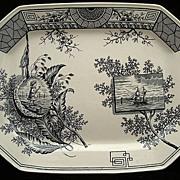 Large Aesthetic Platter ~ Seaweed & Seashore 1884