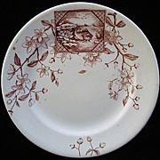 Victorian Brown Transfer FISH Plate ~ Atlantic 1883