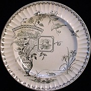 EXC Robert Burns Transferware Plate 1884