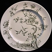 Victorian Green Aesthetic Plate ~ Japonais 1875