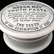 English Victorian Areca Nut Tooth Paste Pot 1880