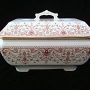SALE Large Brown Transfer Printed SoupTureen ~ TOURNAY 1885
