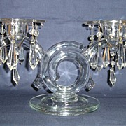 Cambridge Pair of Crystal Pristine Deco 2-Light Candelabras
