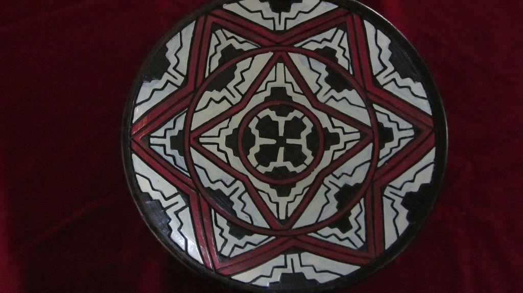 Eye Dazzler Red, Black and White Geometric Bowl