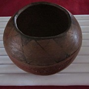 Maricopa Red and Black Decorated Pot