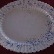 """Adams Ironstone Azalea Pattern 14 1/2"""" X 18"""" Platter"""